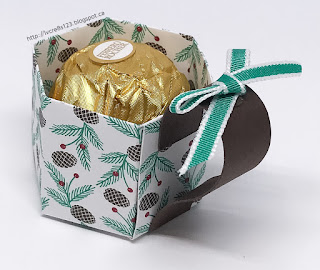 Linda Vich Creates: Christmas Tag Exchange 2016. Mini Mug treat holders perfect for holding a Ferrero Rocher chocolate.