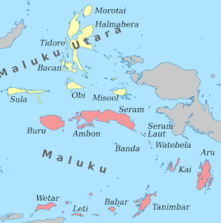 Maluku Islands Map