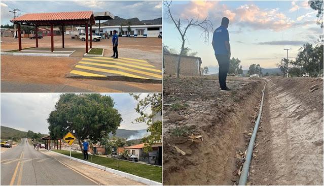 Piatã: Prefeito Marcos Paulo visita obras de requalificação da Av. Piatã no distrito de Cabrália