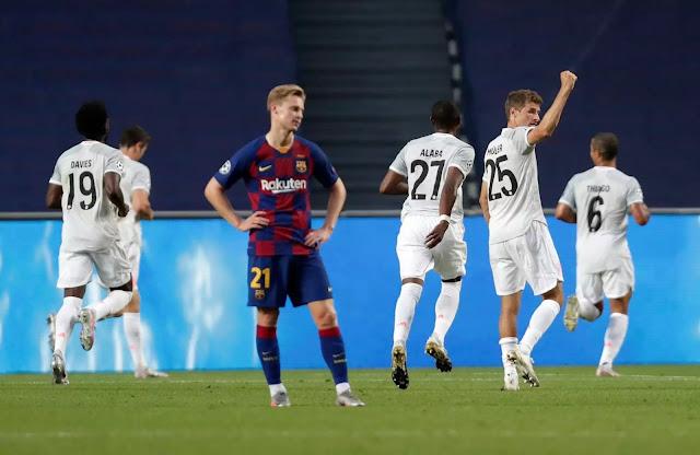 ملخص مباراة برشلونة وبايرن ميونخ