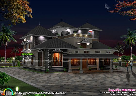 4000 sq ft modern sloping roof house kerala home design and floor plans for 4000 sq ft building