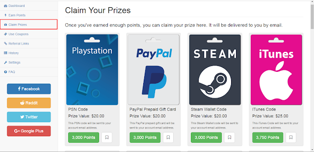 إربح هدايا مالية مع موقع bitcoin - paypal - steam - xbox ... pointsprizes Nesw%2BTab