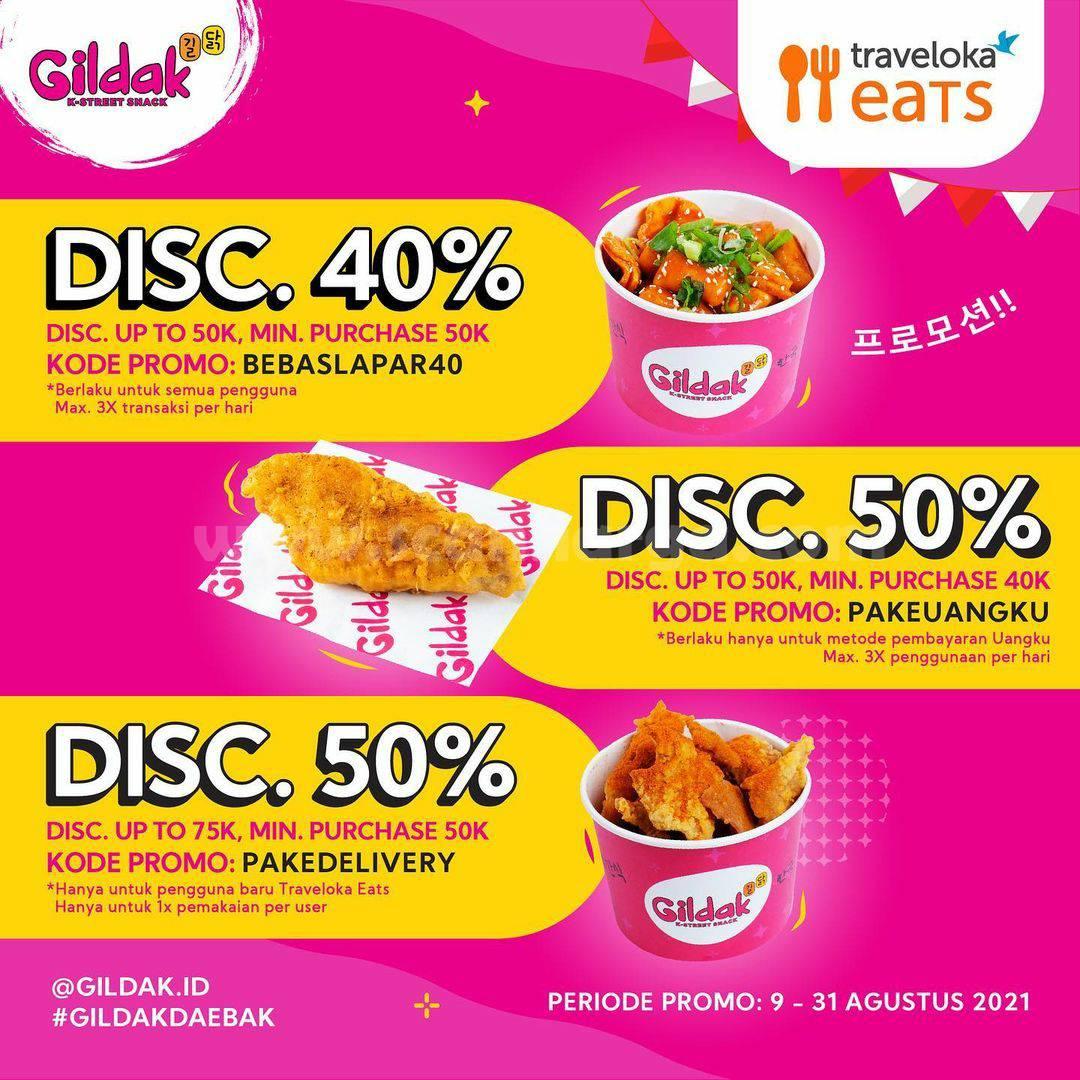 Gildak Promo Diskon hingga 50% via Traveloka Eats
