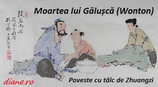 Moartea lui Gălușcă (Wonton): Poveste cu tâlc de Zhuangzi
