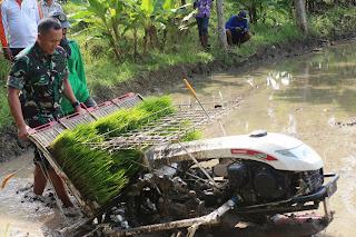 Percepatan Perluasan Tanam Di Kanor,  Kodim Bojonegoro Turun Lapangan