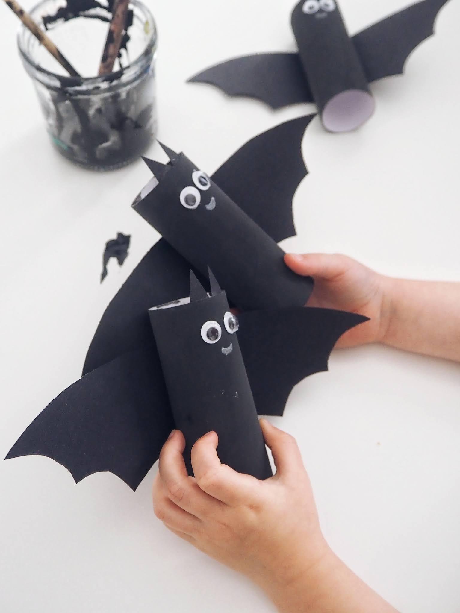 halloween kids craft bats
