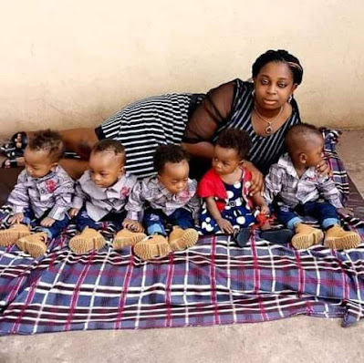 Checkout Adorable Photos Of Keke Driver's Wife And Their Lovely Quintuplets