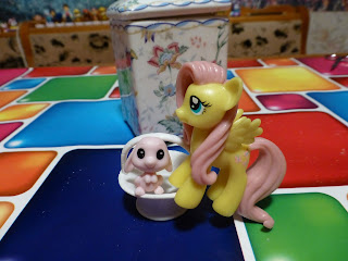 Fluttershy & Angel Magazine Figures Bundled With April Issue