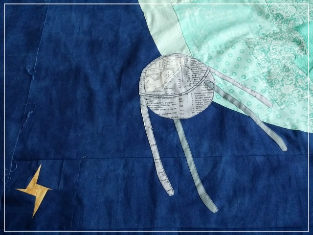 Puppilalla, Round Robin Quilt, Applique, Foundation Paper Stars, Universe Quilt, Star Quilt, Improv Stars