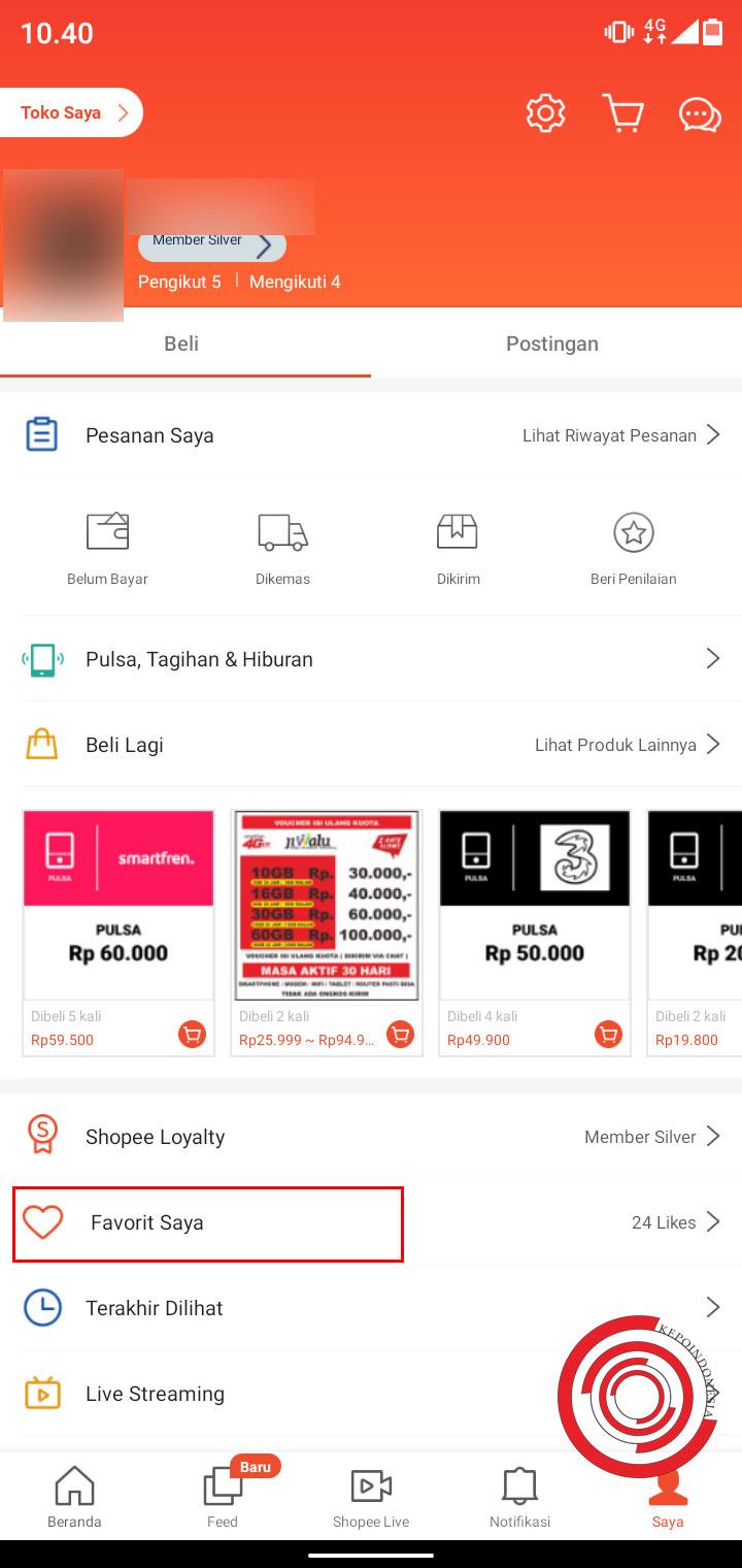Cara Menghapus Produk Favorit Di Shopee Kepoindonesia
