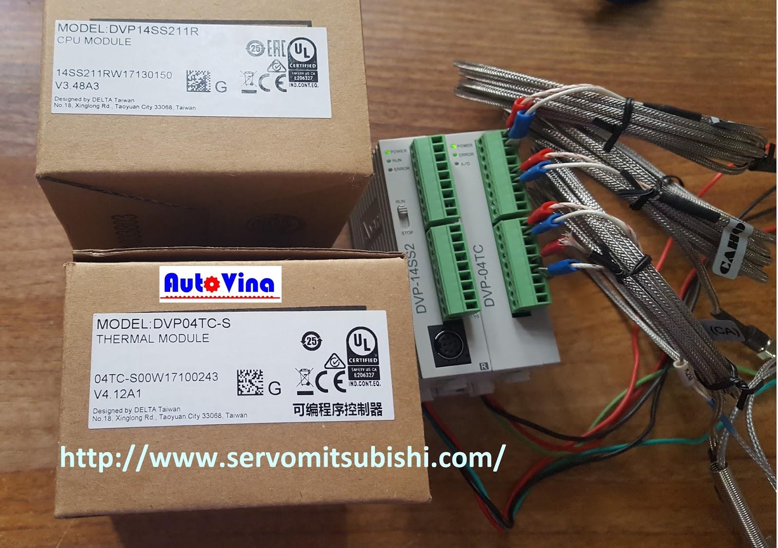 Đại lý bán Module can nhiệt DVP04TC-S cho PLC Delta