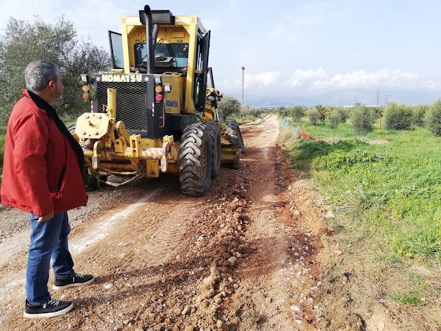 Παρεμβάσεις από τον Δήμο Ναυπλιέων στην αγροτική οδοποιία σε Μάνεση και Δενδρά