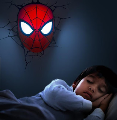 3D Spider-Man Wall Light
