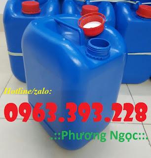 Can nhựa đựng hóa chất, can nhựa HDPE, can có nắp chống tràn
