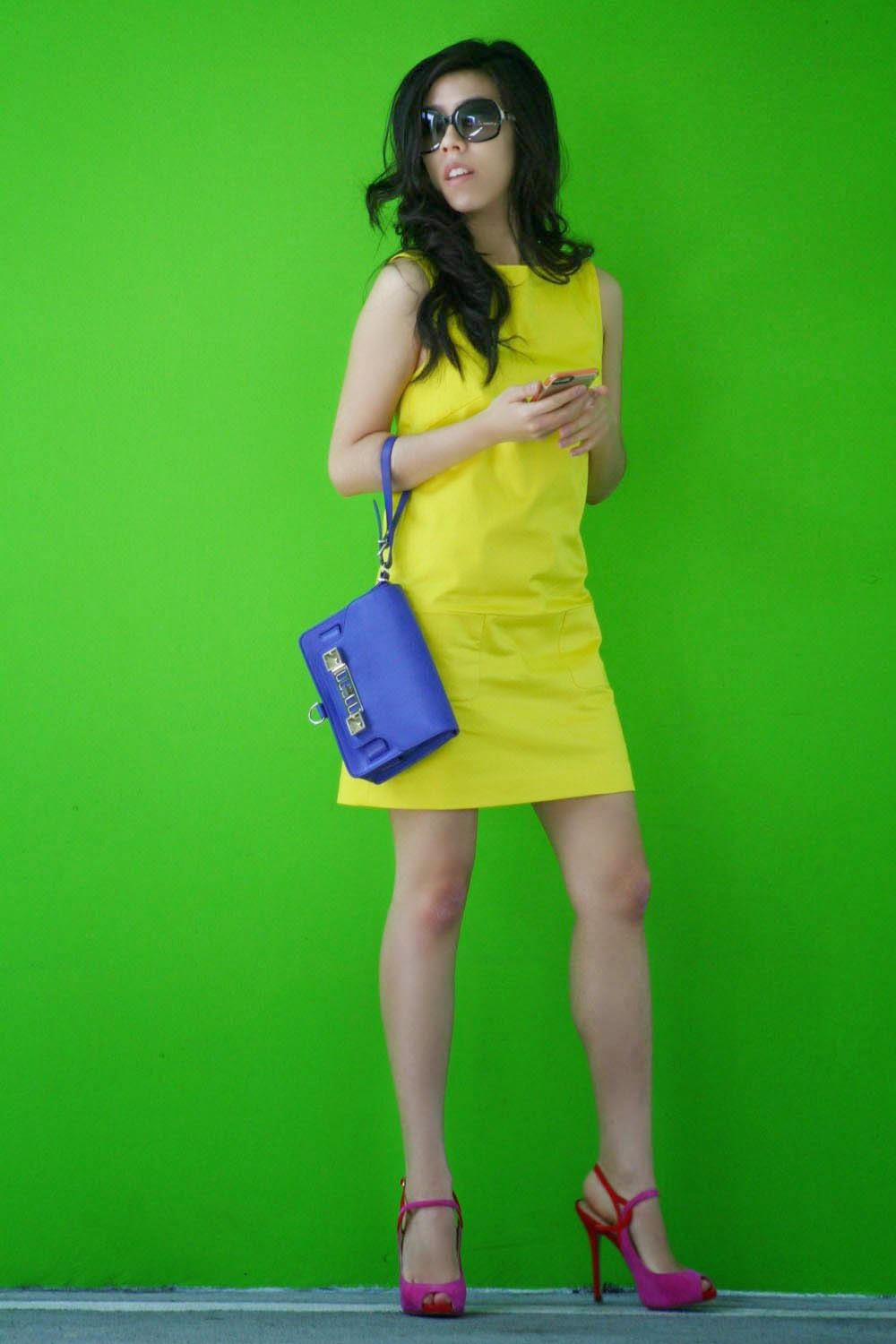 PIOL Custom Made Yellow Shift Dress