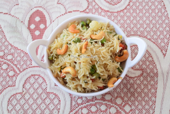 Subz Pulao - Mixed Vegetable Pulao Recipe - सब्ज पुलाव रेसिपी - Priya R - Magic of Indian Rasoi