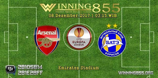 Prediksi Akurat Arsenal vs BATE Borisov 08 Desember 2017