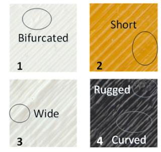 Figura 3 - Texturas diferentes por  diferentes impressoras para um mesmo objeto.