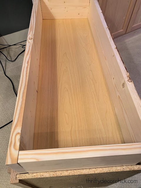 prepping cabinets for built ins