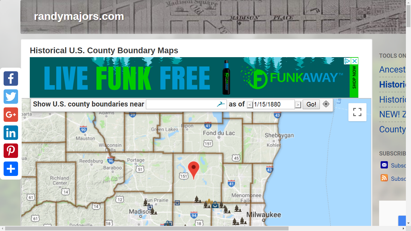 Fond Du Lac Zip Code Map.Genea Musings Google Maps With Complete County Lines And Zip Codes