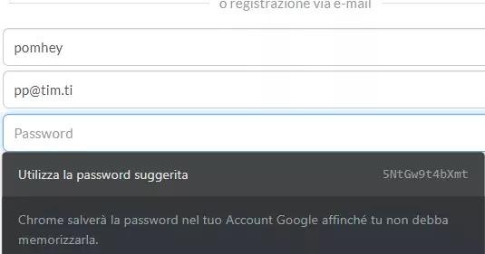 Generare password casuali, sicure e automatiche su Chrome