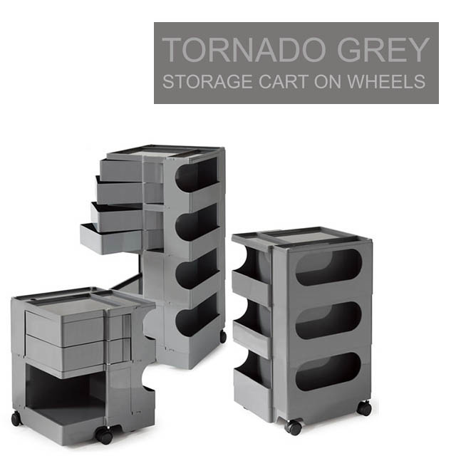 Tornado™ (Grey) Smart Utlity Cart With 5 Wheels   File U0026 Storage Carts
