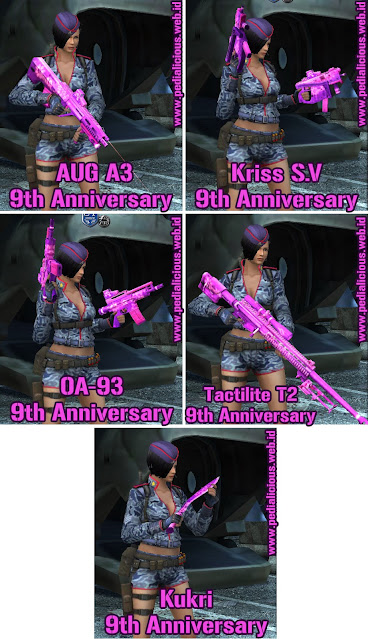 Senjata No Rules Seri 9th Anniversary Point Blank Zepetto Indonesia