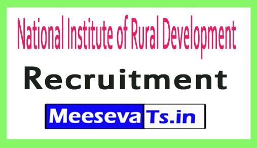 National Institute of Rural Development NIRDPR Recruitment