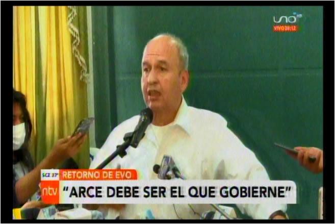 """Murillo de Evo: """"Si vuelve va a querer él gobernar; será el principio del fracaso del nuevo gobierno"""""""
