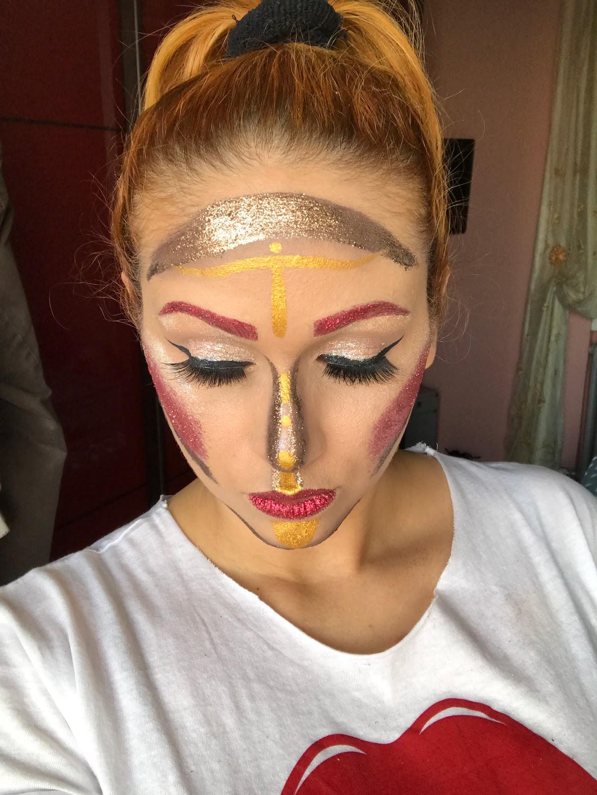 Sagittarius Make First Face Painting Glitter