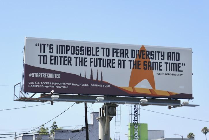 Star Trek United NAACP Legal Defense Fund billboard