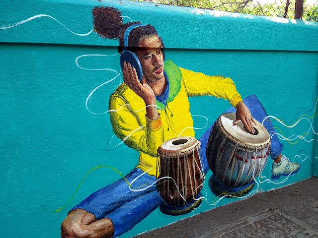 mural, street art, painting, art, wall, bandra, street, incredible india, mumbai, music,