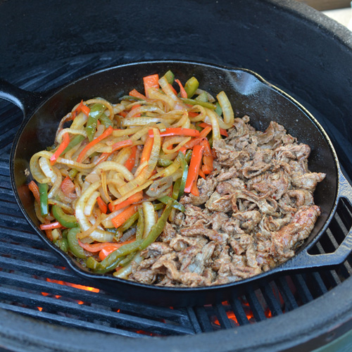 Peppers, onions, and Shaved steak