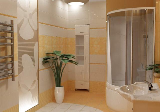 menata kamar mandi yang kecil