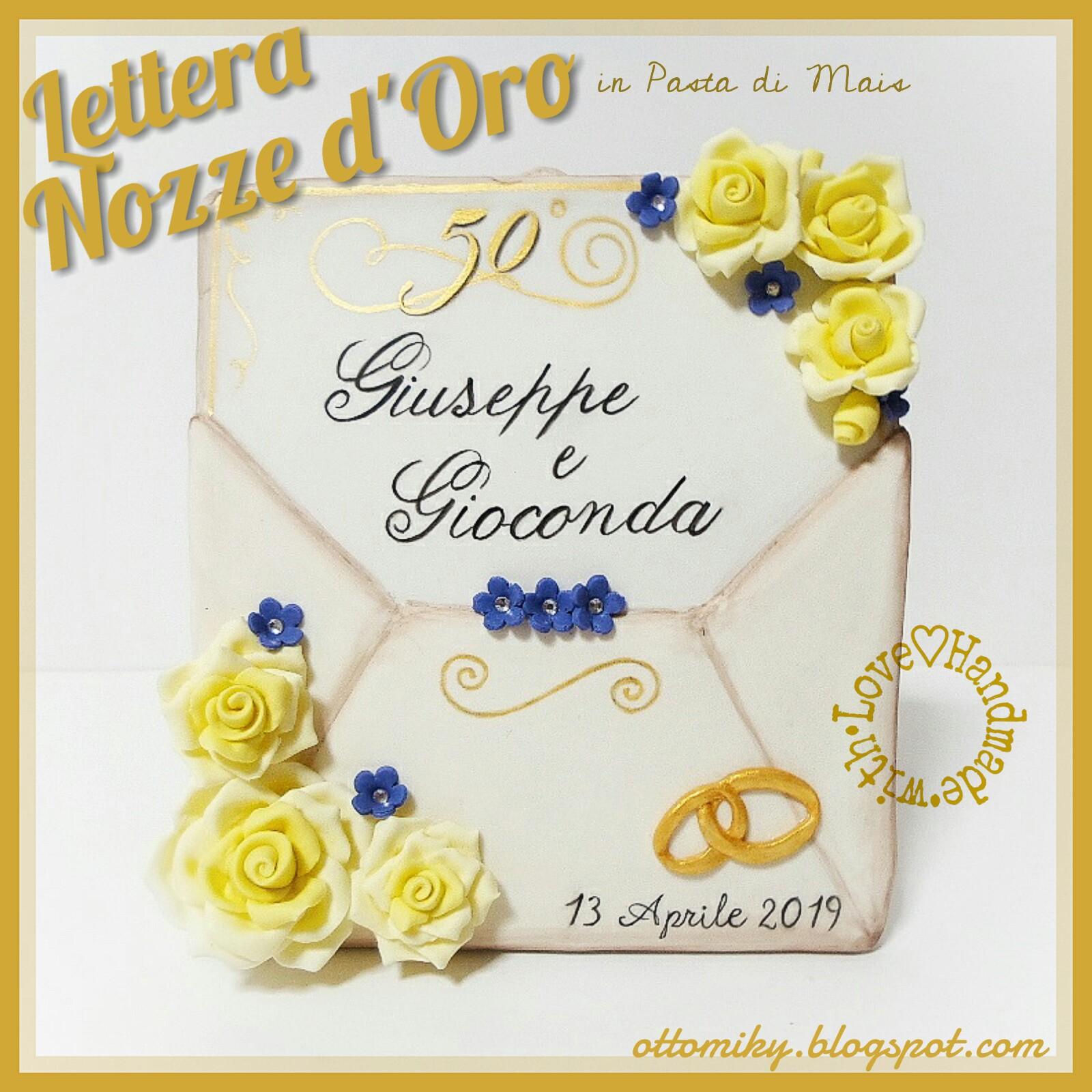 Decorazioni Lettere D Amore otto&miky: bomboniera lettera nozze d'oro