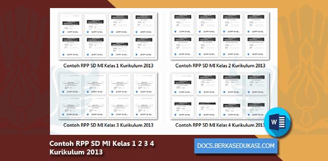 Contoh RPP SD MI Kelas 1 2 3 4 Kurikulum 2013