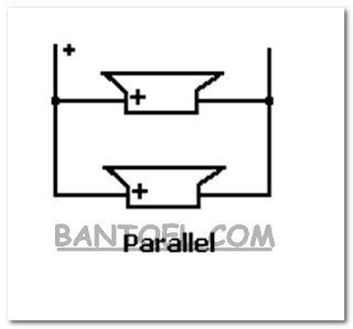 Rangkaian parallel 2 speaker
