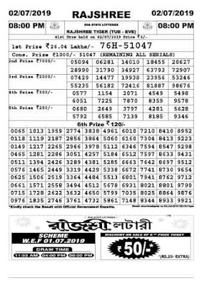 rajshree lottery sambad, rajshree today result, goa state lottery, goa state lottery today result, ildl, indian lottery distribution ltd, rajshree result, 8pm