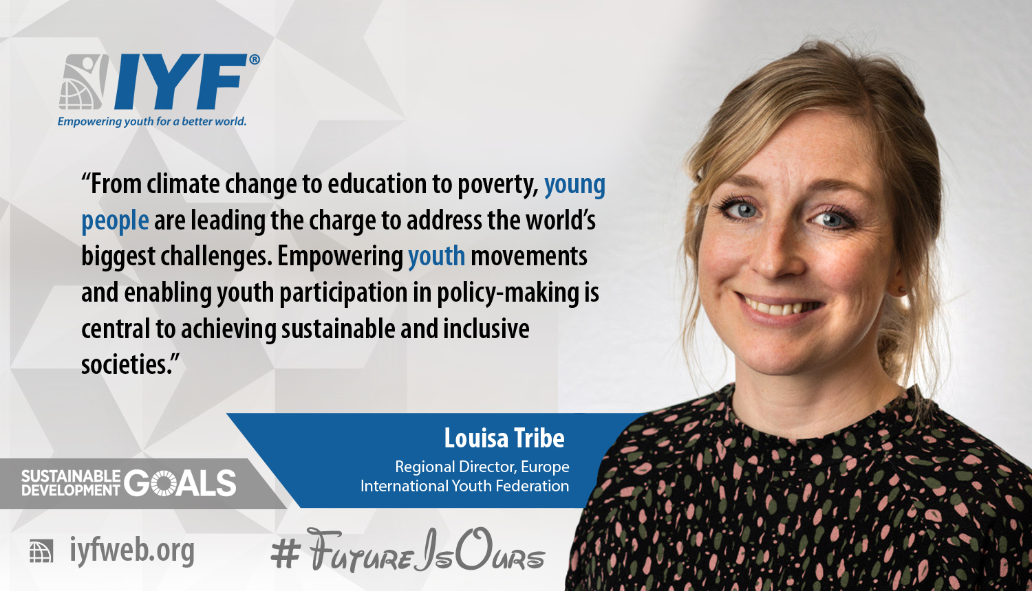 Louisa Tribe, IYF Regional Director for Europe