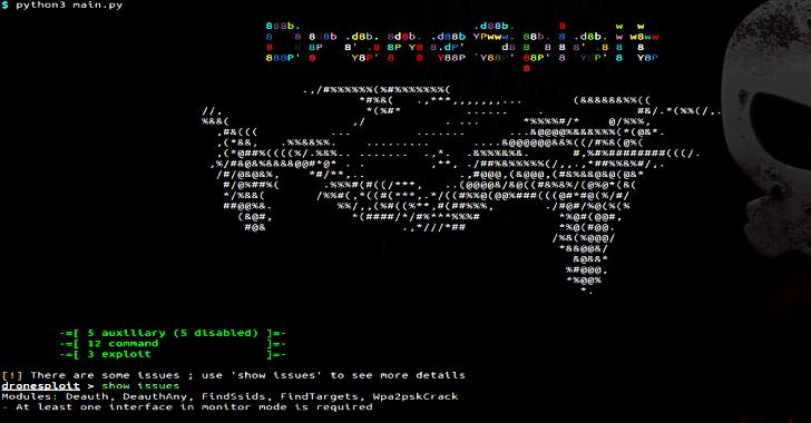 DroneSploit – Drone Pentesting Framework Console