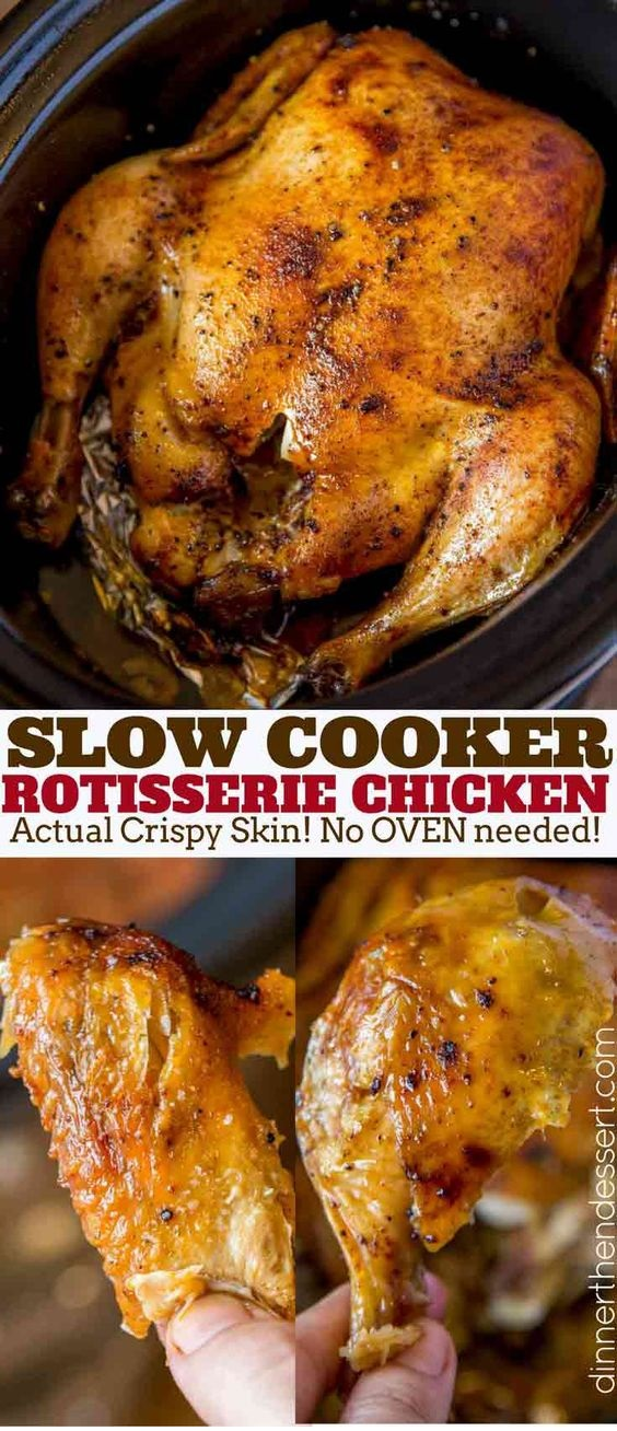 Slow Cooker Rotisserie Chicken