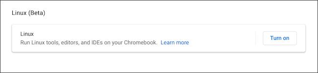قم بتشغيل Linux على Chromebook