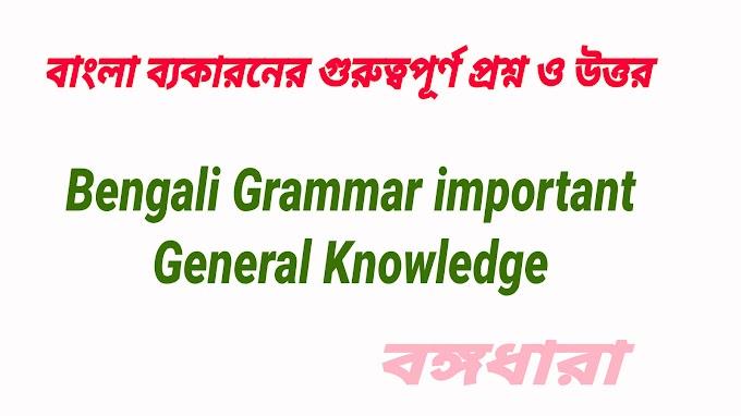 Benagli Grammar General Knowledge most Important | West Bengal Comparative Bengali Language Important Question online mock Test  2021|  বাংলা ব্যকারনের গুরুত্বপূর্ণ প্রশ্ন ও উত্তর |