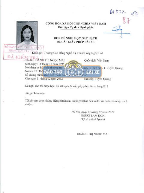 Cách đăng ký học bằng lái xe hạng B2