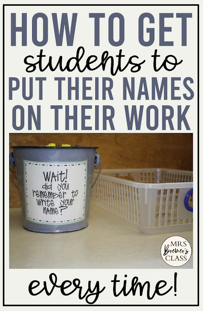 A perfect teacher hack! This tip ensures that ALL students write their names on their papers {and it works for ANY grade!} #teacherhacks #teachertips #nameonpaper #backtoschool #classroom #classroomtips #classmanagement #classroomorganization