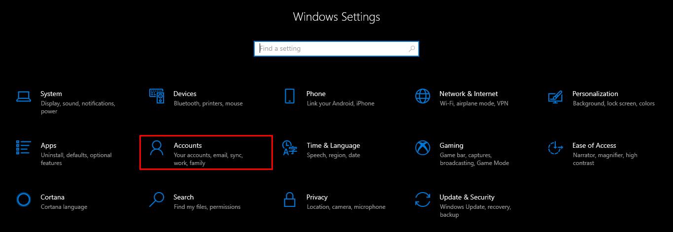 Windows - Accounts