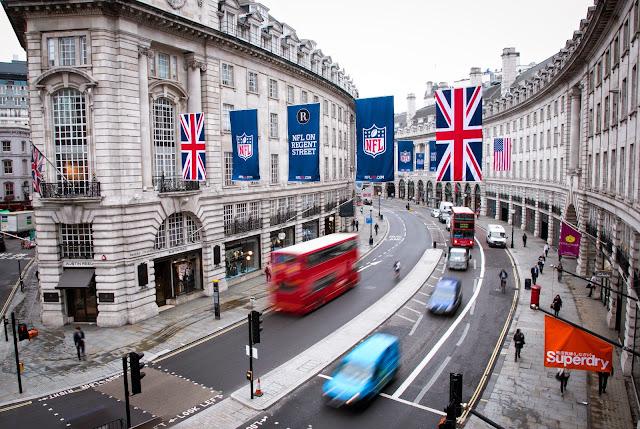 Compras nas lojas de rua em Londres