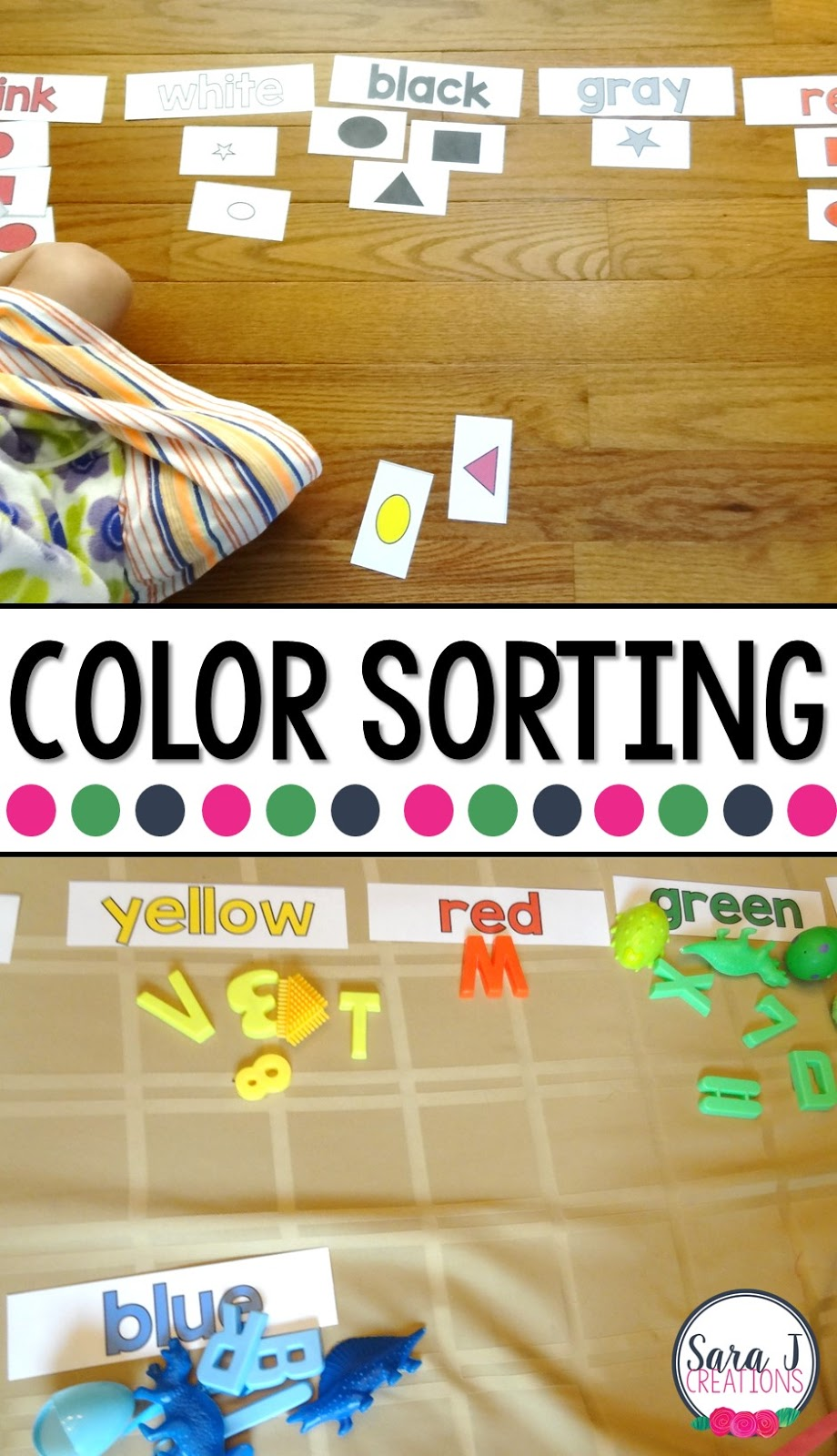 Color sorting activities that make perfect learning fun for toddler and preschool aged kids.