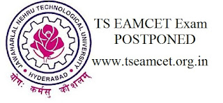TS EAMCET Exam 2016  Postponed & Rescheduled