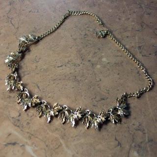 linked vintage leaf necklace by Exquisite